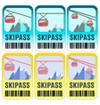 Set of skipass template design vector image vector image