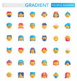 set trendy flat gradient people avatars vector image vector image