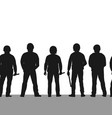 silhouette police line seamless border row of vector image vector image