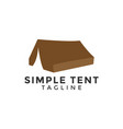 simple tent logo design template isolated vector image vector image