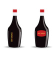 soy sauce in a glass bottle vector image vector image
