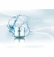 splash of waterrealistic plastic cosmetic package vector image