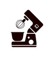 stand mixer icon filled flat sign vector image