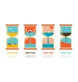 summer time set of four abstract sand clocks vector image