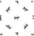 switzerland cow pattern seamless black vector image vector image