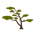 Tree with crown icon flat style vector image vector image
