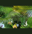 tropical background with photorealistic vegetation vector image vector image