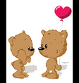 valentine bear couple vector image vector image