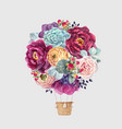 watercolor floral air baloon vector image vector image