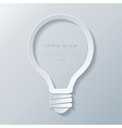 Modern idea lightbulb icon banner template vector image