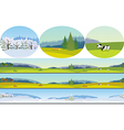 Seamless Long Landscape vector image
