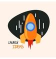 Start up rocket logo concept symbol vector image