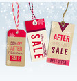 after christmas sale tags vector image