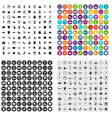 100 stylist icons set variant vector image