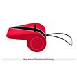 A Whistle of Republic of Trinidad and Tobago vector image
