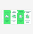 agriculture machines types onboarding template vector image
