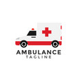 ambulance car graphic design element vector image vector image