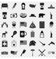 america icons set simple style vector image vector image
