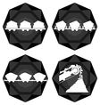 Badges coal industry vector image vector image
