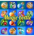 Big set of different magic bottles vector image vector image