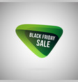 black friday sale logotype green abstract label vector image
