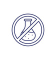 chemical free line icon vector image vector image