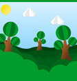children paper of a paper forest vector image