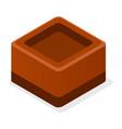 choco truffle icon isometric style vector image vector image