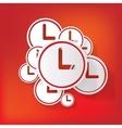 Clock web icon button vector image vector image