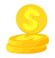 Coins icon cartoon style vector image vector image