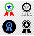 composition of gradiented dotted star seal and vector image vector image