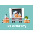 corporate moving into new office concept business vector image