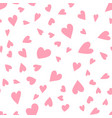cute simple seamless pattern love heart vector image vector image