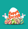 easter egg hunt background for greeting card ad vector image