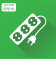 extension cord icon business concept electric vector image