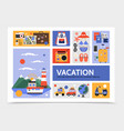 flat summer travel infographic template vector image