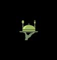 food restaurant serve quality logo vector image