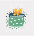 gift box with ribbon on white background vector image