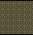 golden seamless pattern black background vector image