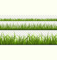 green grass borders football field summer meadow vector image vector image