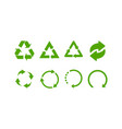green recycle signs recycle icons set green vector image