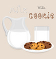 icon logo for pile homemade cookies vector image