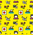 japan seamless pattern vector image vector image