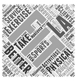 La Fitness Word Cloud Concept vector image vector image