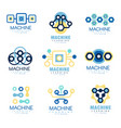 learning machine label original design set of vector image vector image