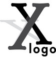 letter x extended foot logo vector image