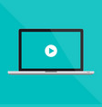 macbook pro flat laptop and a video vector image vector image