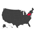 map of usa - pennsylvania vector image