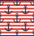 marine pattern anchor navy seamless pattern vector image vector image