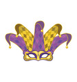 mask with jester hat vector image vector image